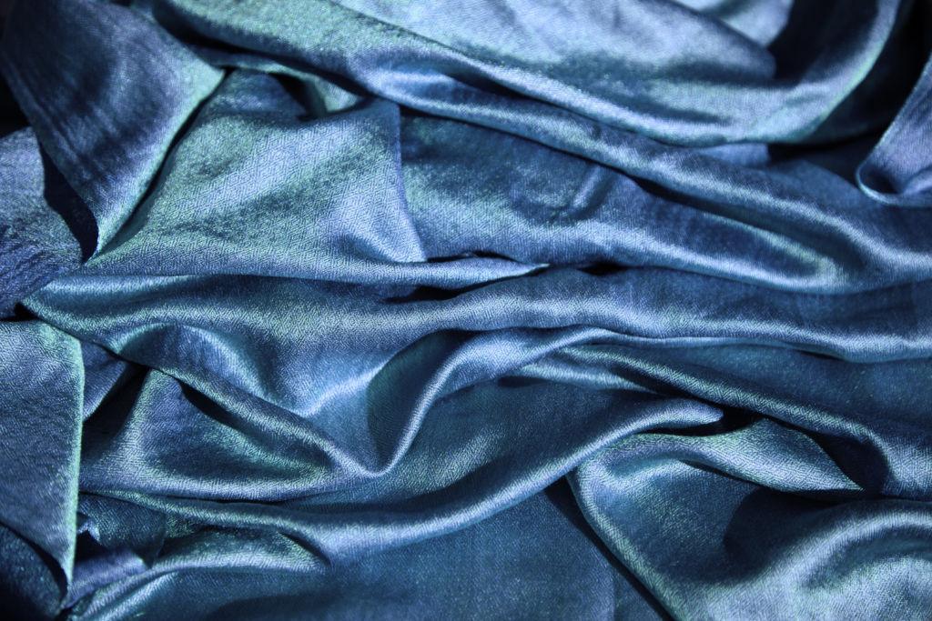 textile luxe bleu